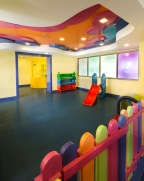 A colorful playroom for the kids!